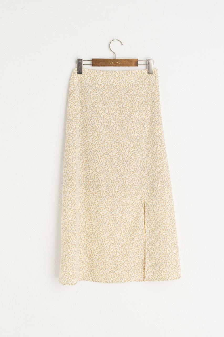 Eloise Floral Skirt, Lime