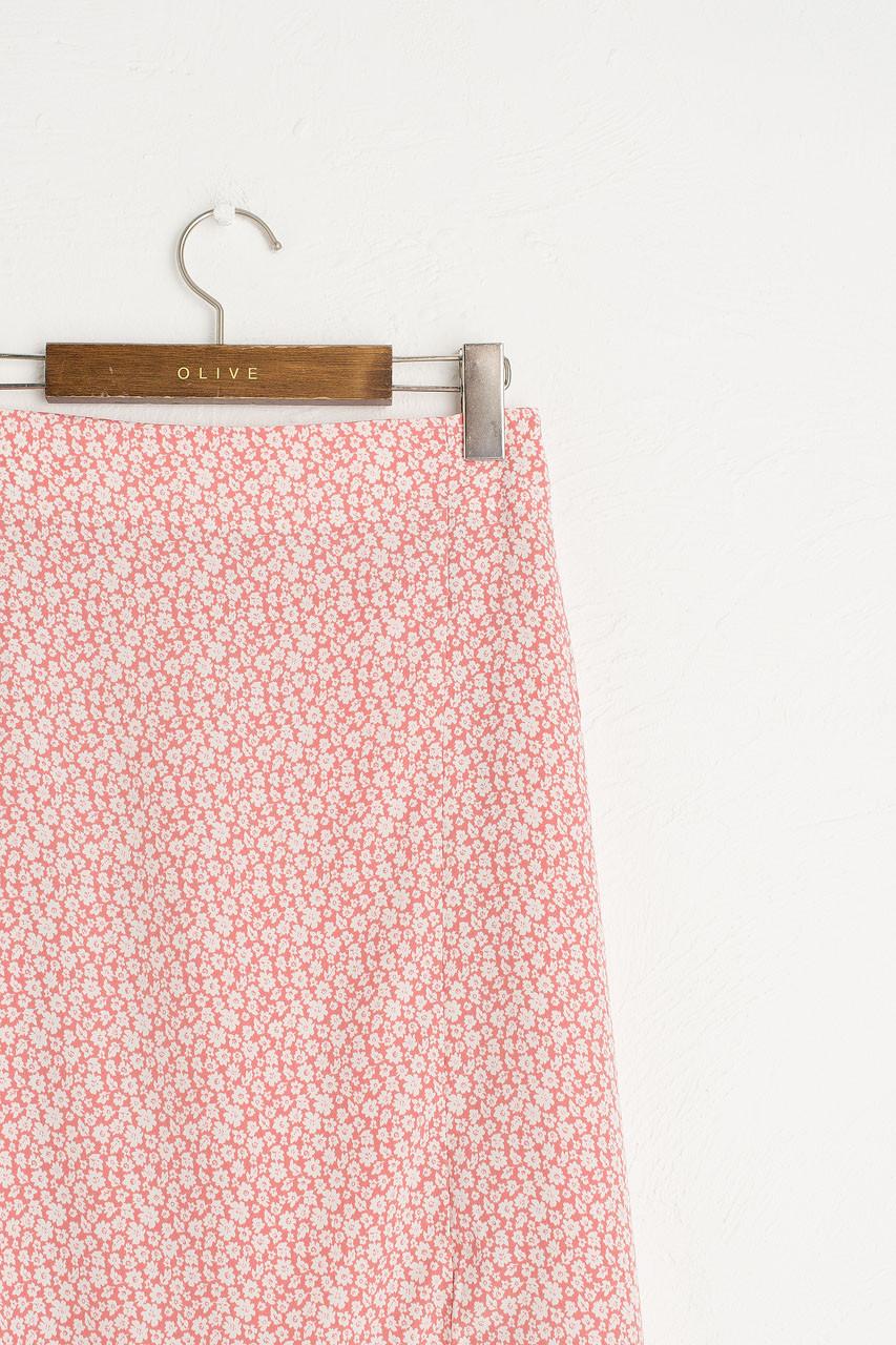 Eloise Floral Skirt, Rose Pink