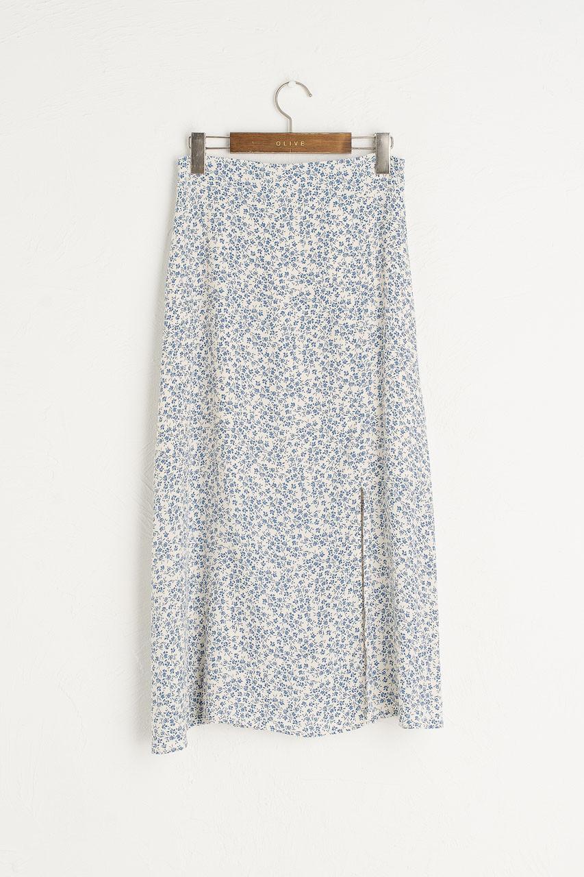 Valerie Floral Skirt, Ivory