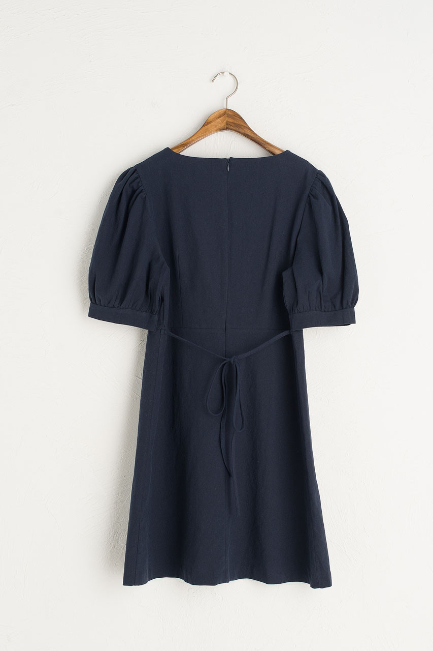 Tulip Babydoll Dress, Navy