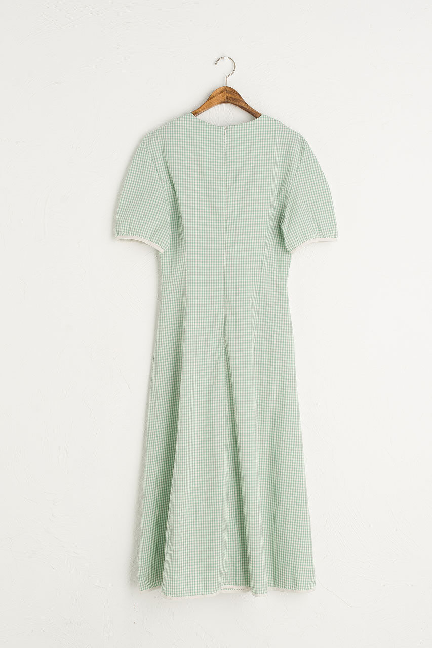 Nora Gingham Dress, Mint