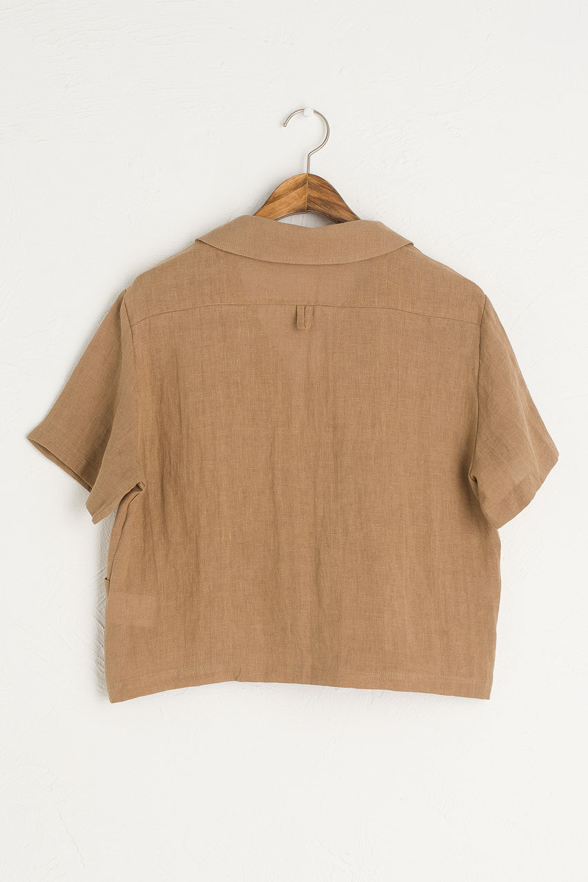 Bella Linen Blouse, Brown
