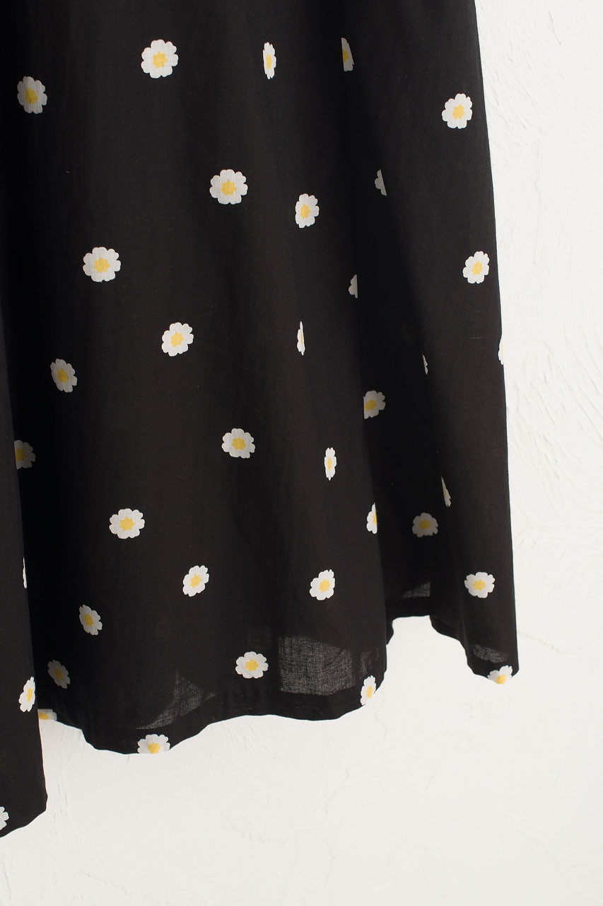 Daisy Wrap Dress, Black