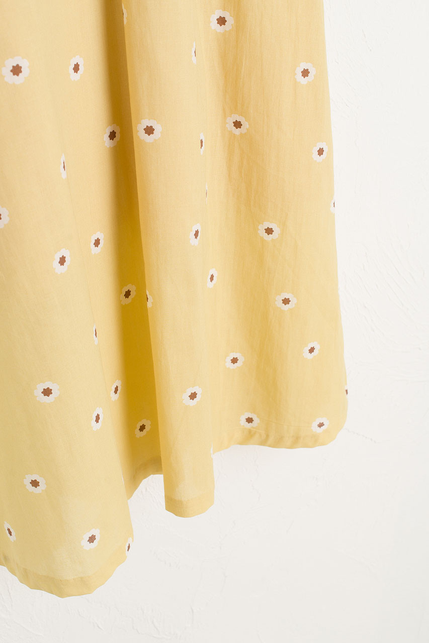 Daisy Wrap Dress, Mustard