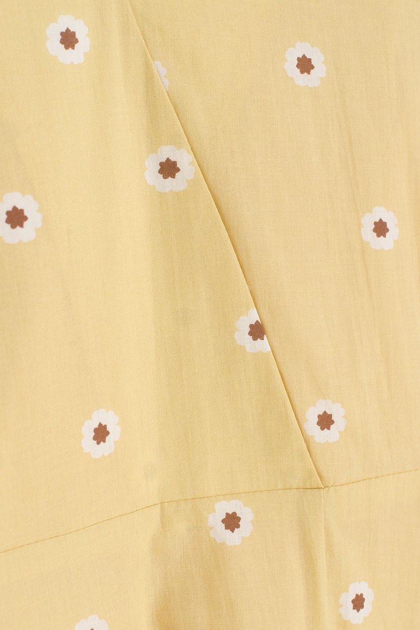 Daisy Wrap Dress, Mustard