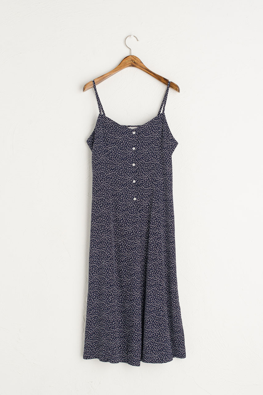 Dotty Cami Dress, Black
