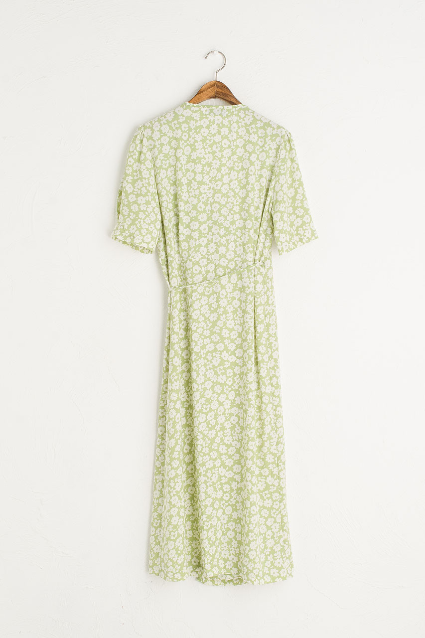 Takako Wrap Dress, Lime