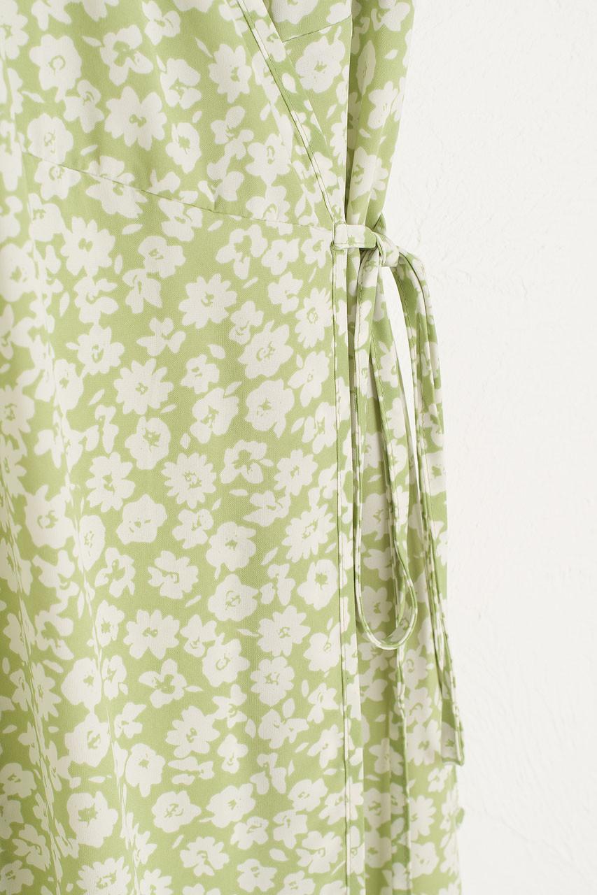 Takako Wrap Dress, Lime