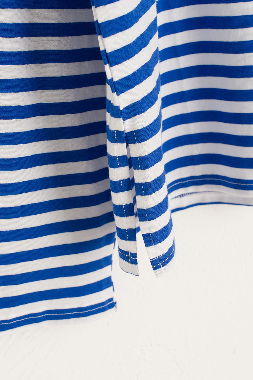 Loose Fit Stripe Tee, Marine blue