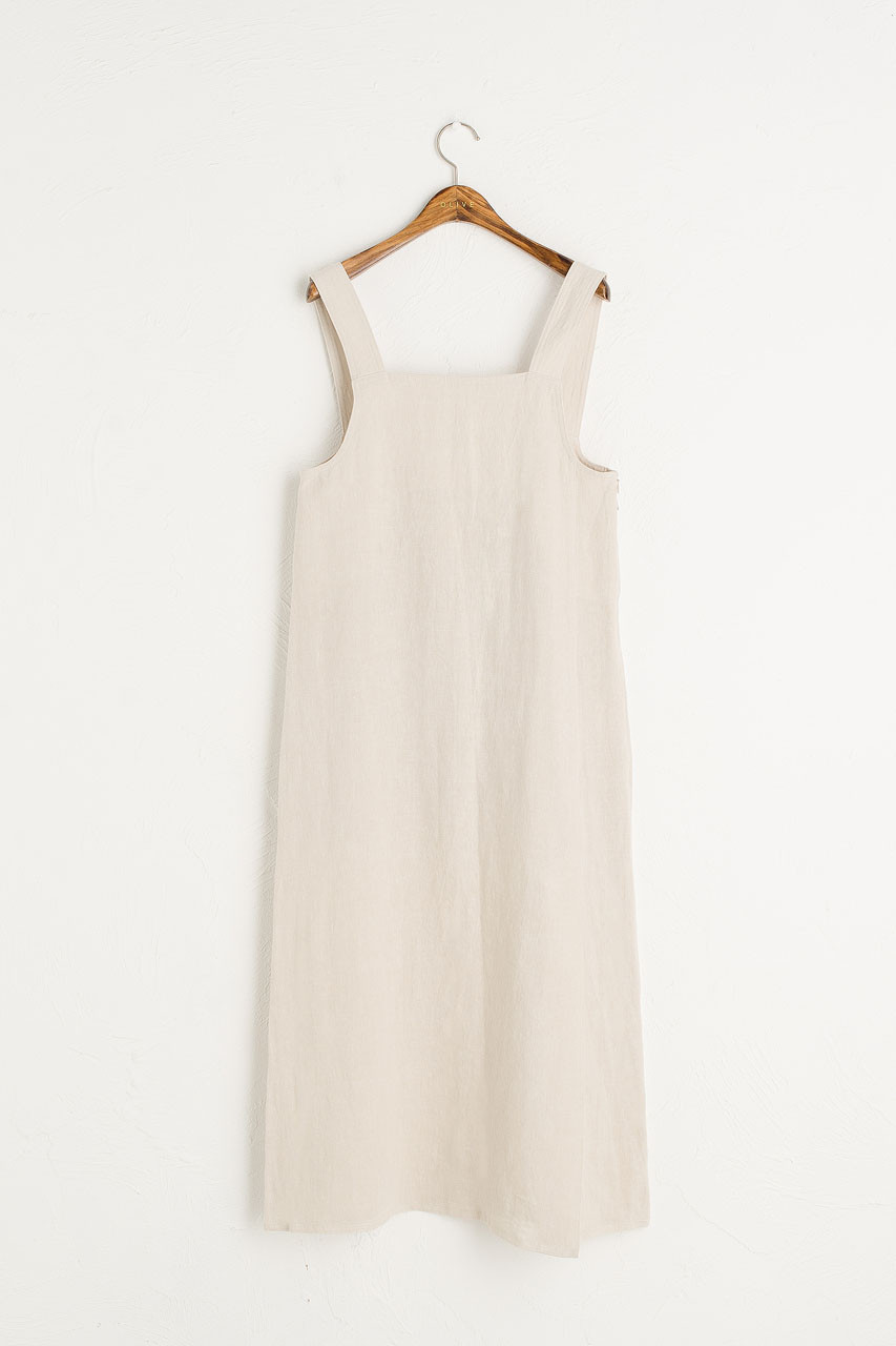 Nancy-May Apron Dress, Beige