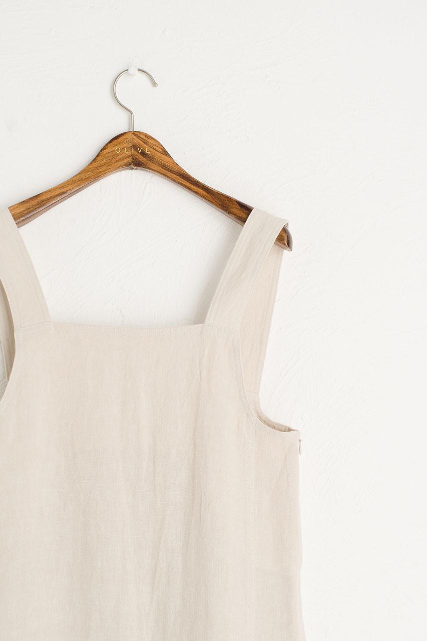 Nancy-May Apron Dress, Beige