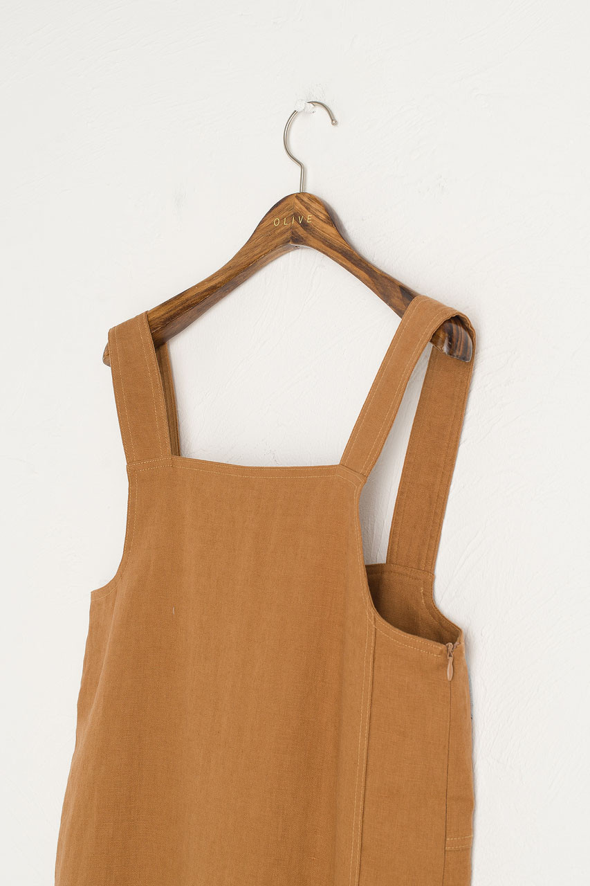 Nancy-May Apron Dress, Camel