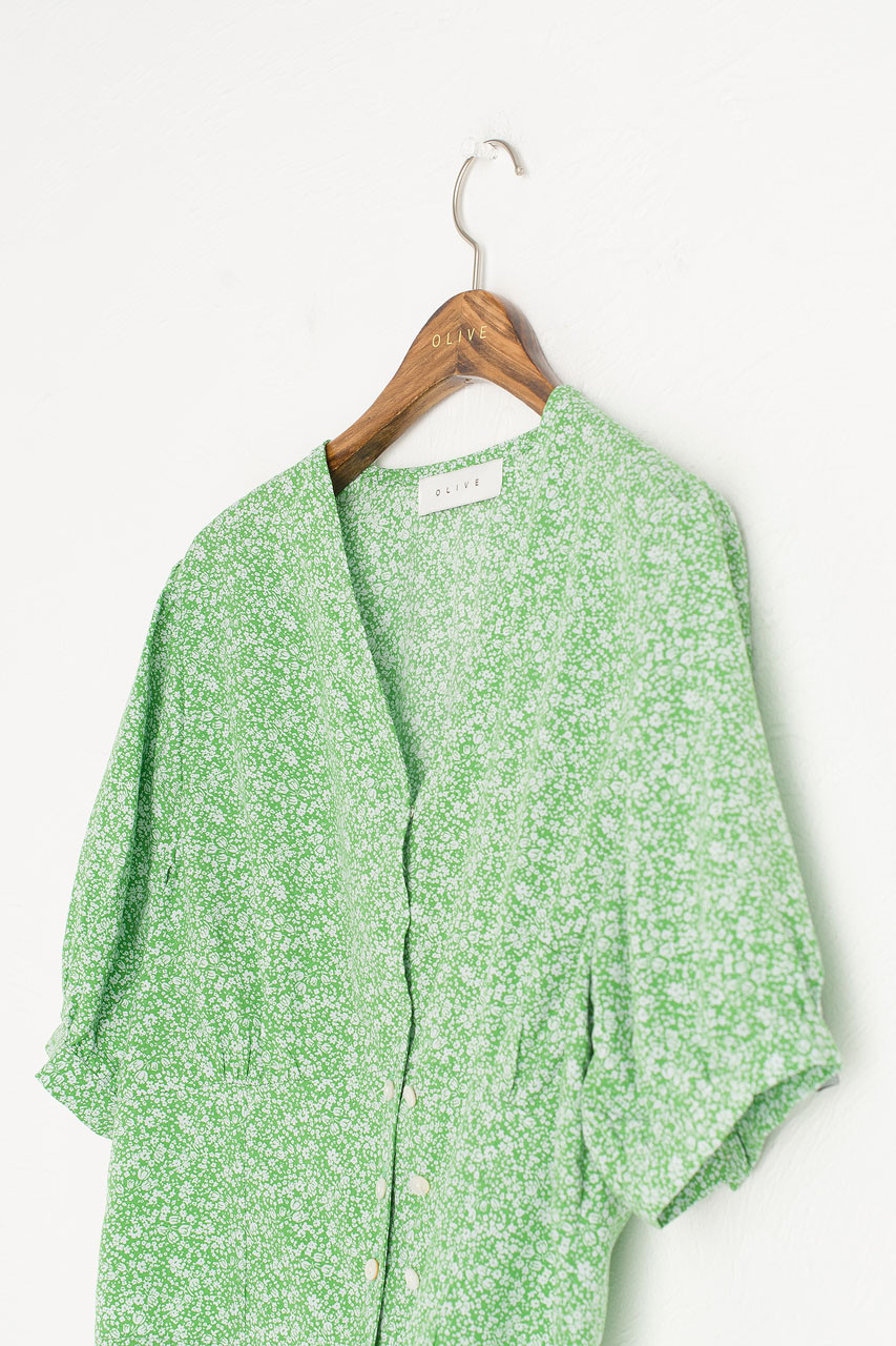 Yuha Ditsy Blouse, Green