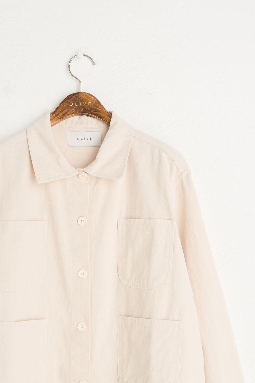 Risa Four Pocket Jacket, Ivory