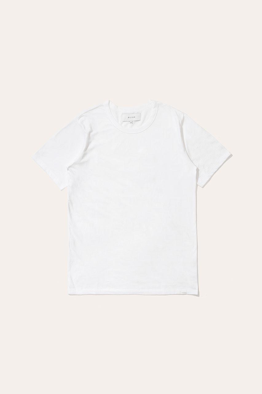 Menswear   Organic Cotton Short Sleeve Tee, White
