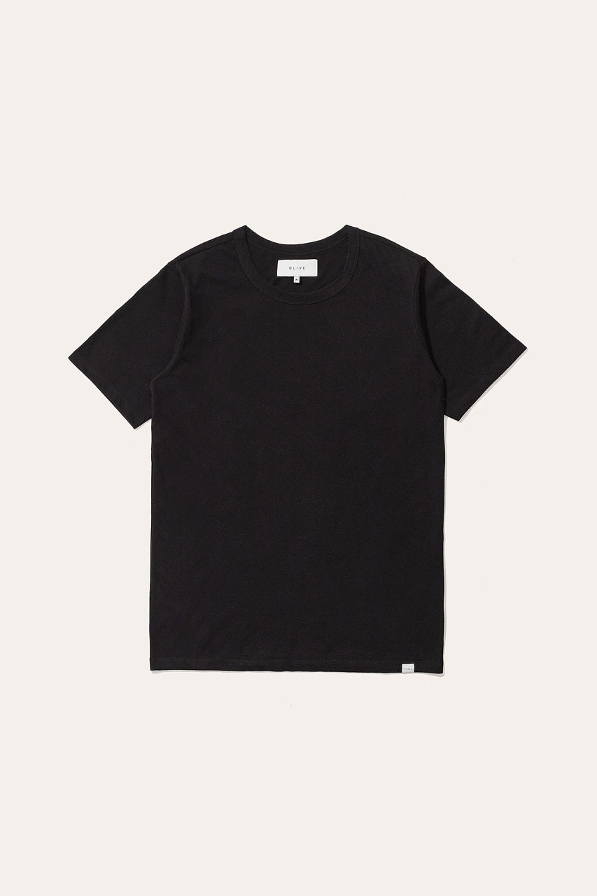 Menswear | Organic Cotton Short Sleeve Tee, Black