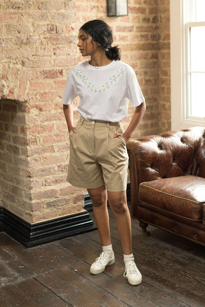 Hana Bermuda Shorts, Beige