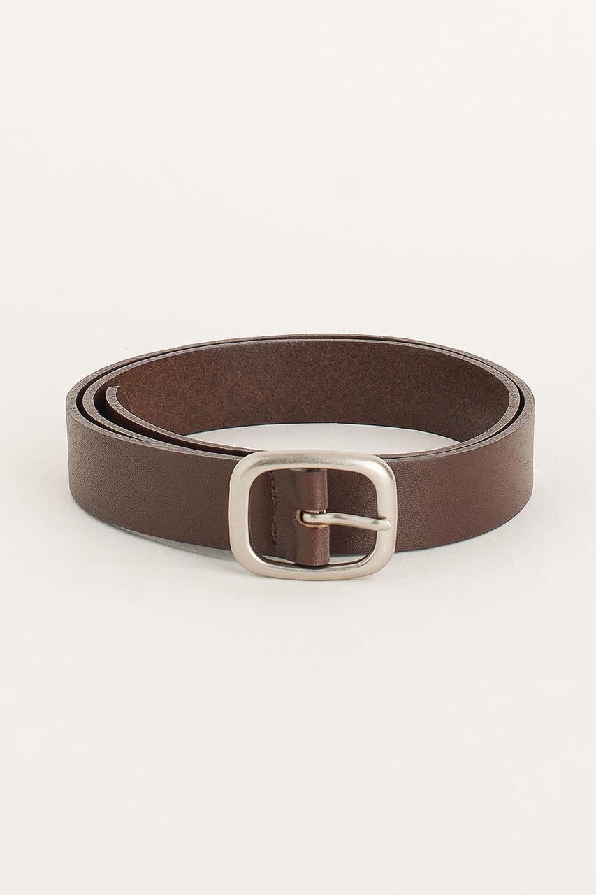 Menswear | Oval Belt, Dark Brown