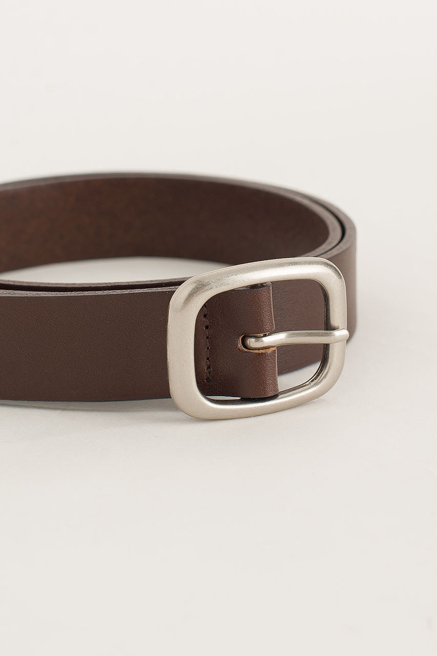 Menswear | Oval Belt, Dark Brown