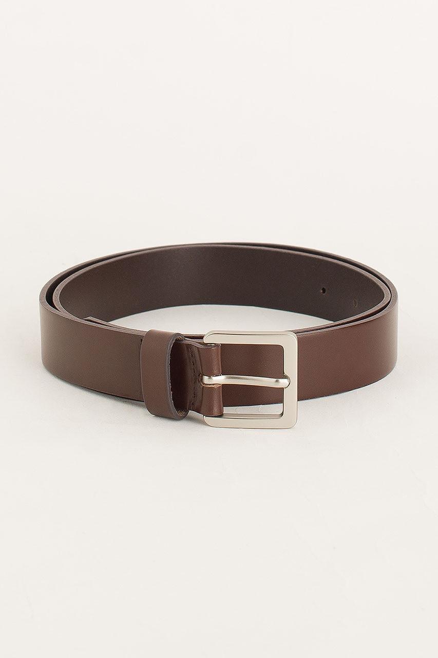 Menswear | Square Belt, Dark Brown