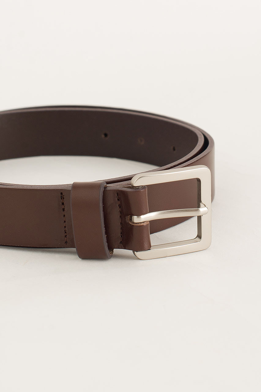 Menswear | Square Belt, Dark Brown