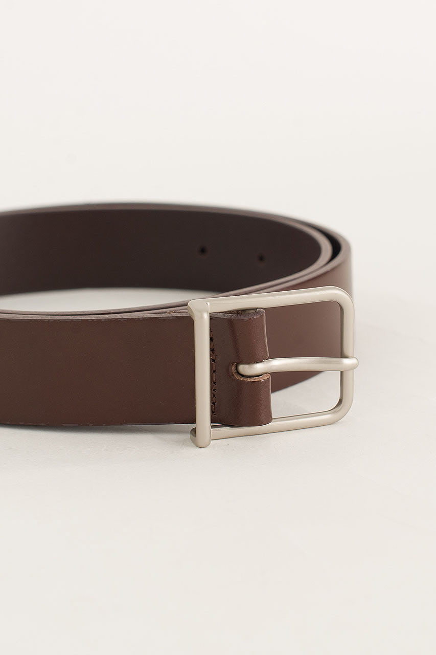 Menswear | Narrow Square Belt, Dark Brown