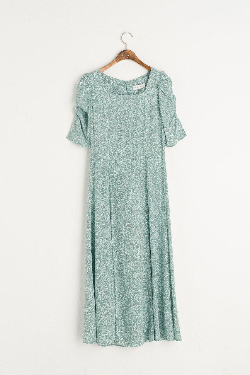 Celinde Printed Dress, Mint