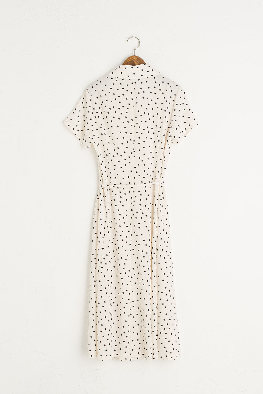 Dana Dotty Shirt Dress, Ivory