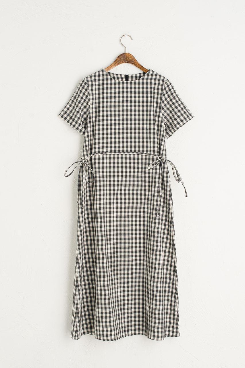 Sophie Gingham Dress, Black