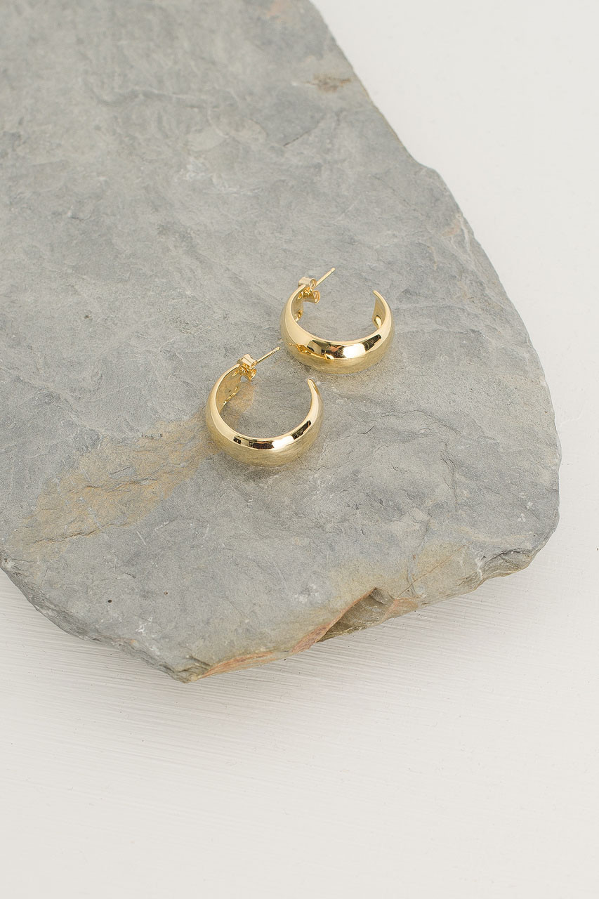 Tenaya Hoop Earrings, Gold Plated