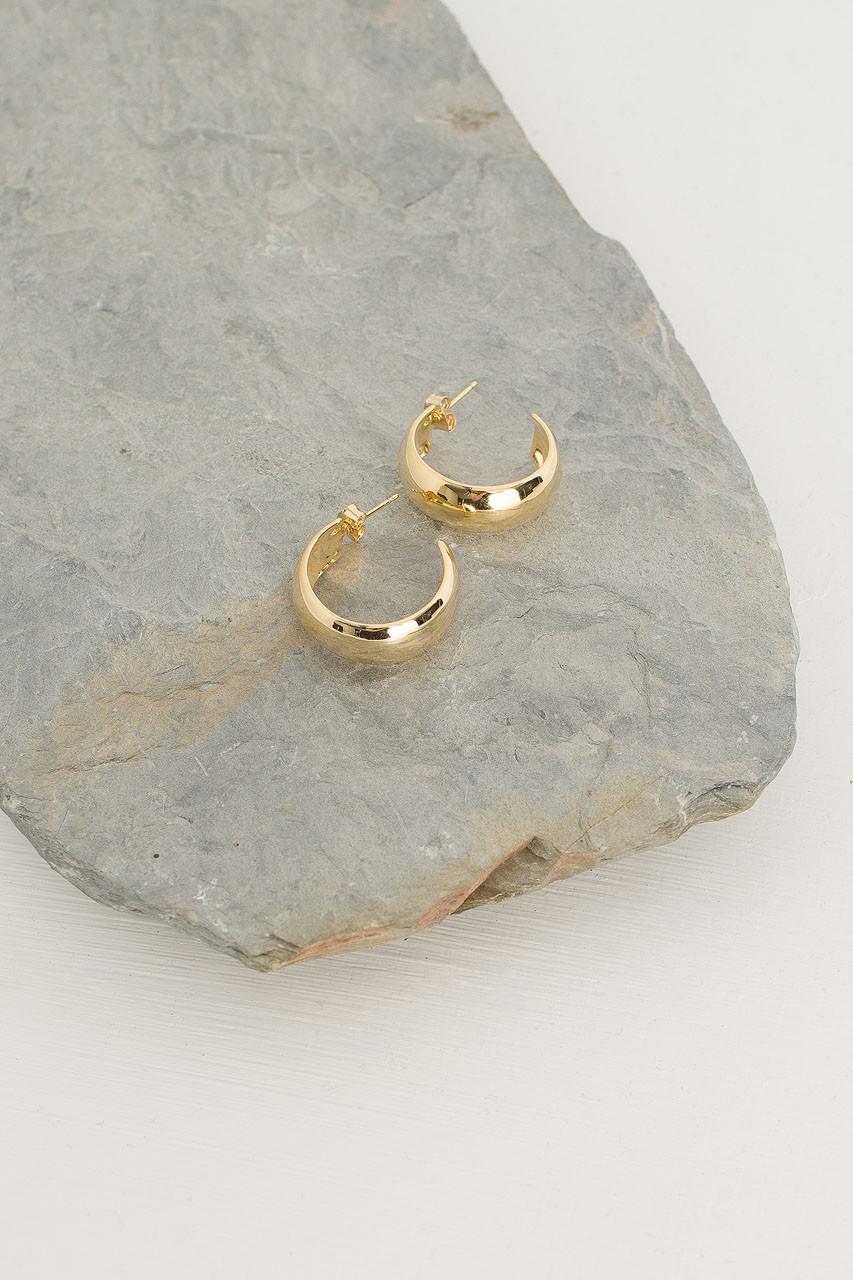 Tenaya Hoop Earrings, Gold Plated