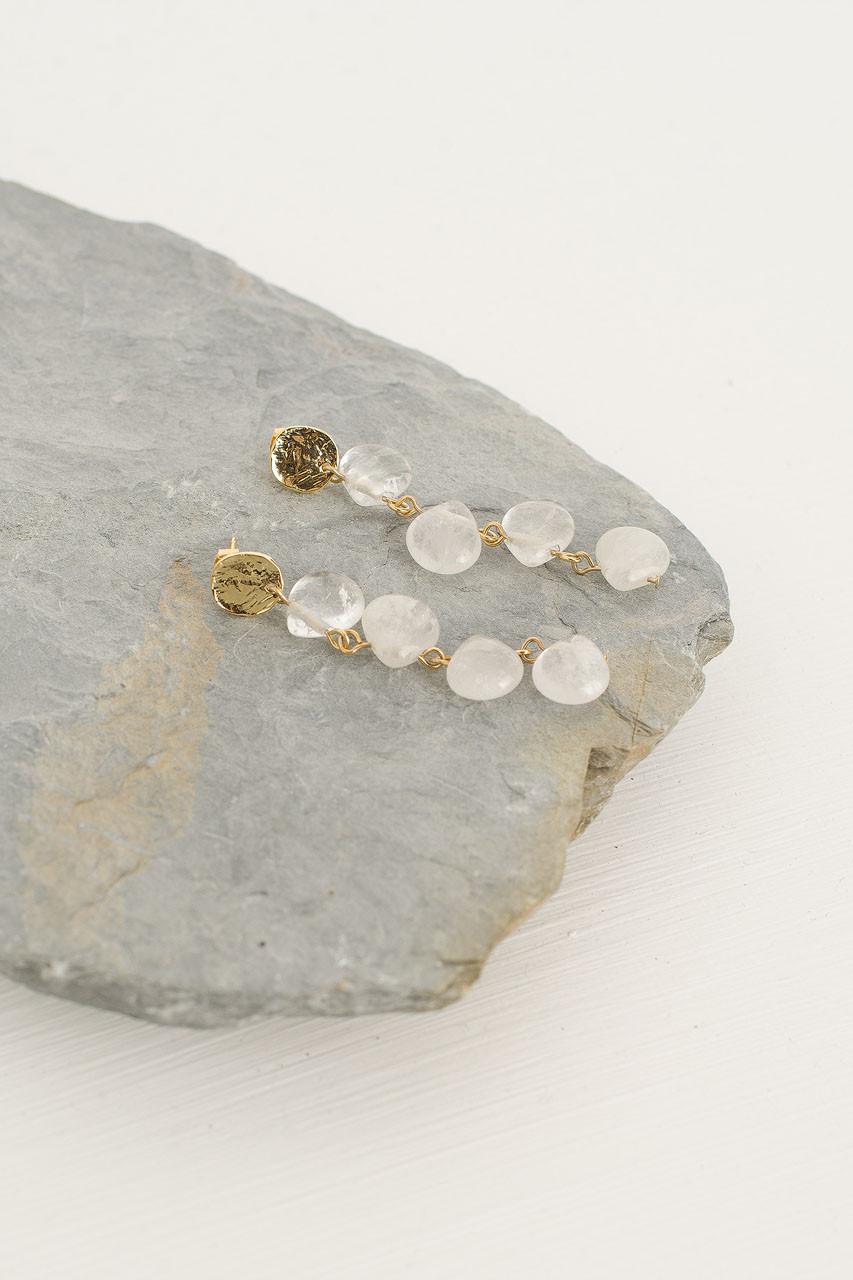 Sakura Drop Earrings, Gold Plated