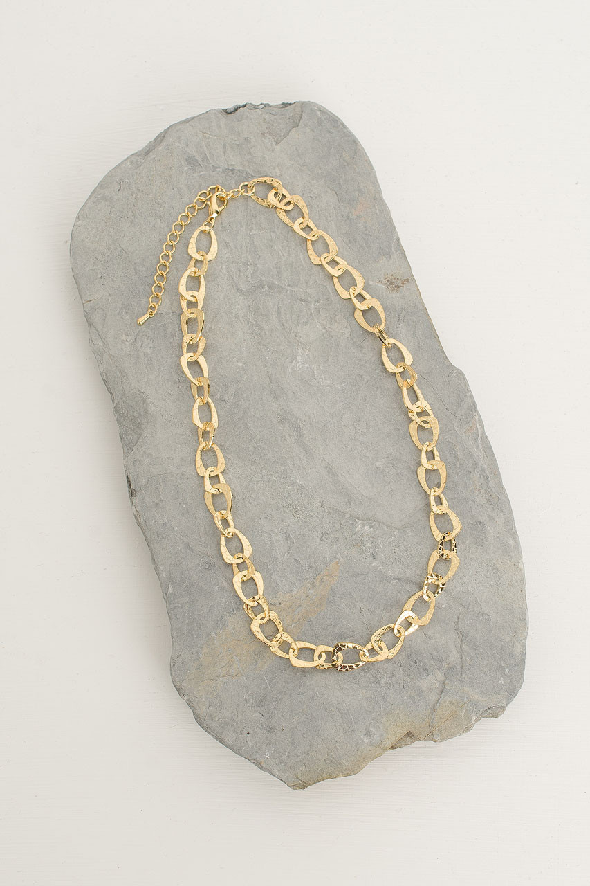 Stacy Chain Necklace, Gold Plated