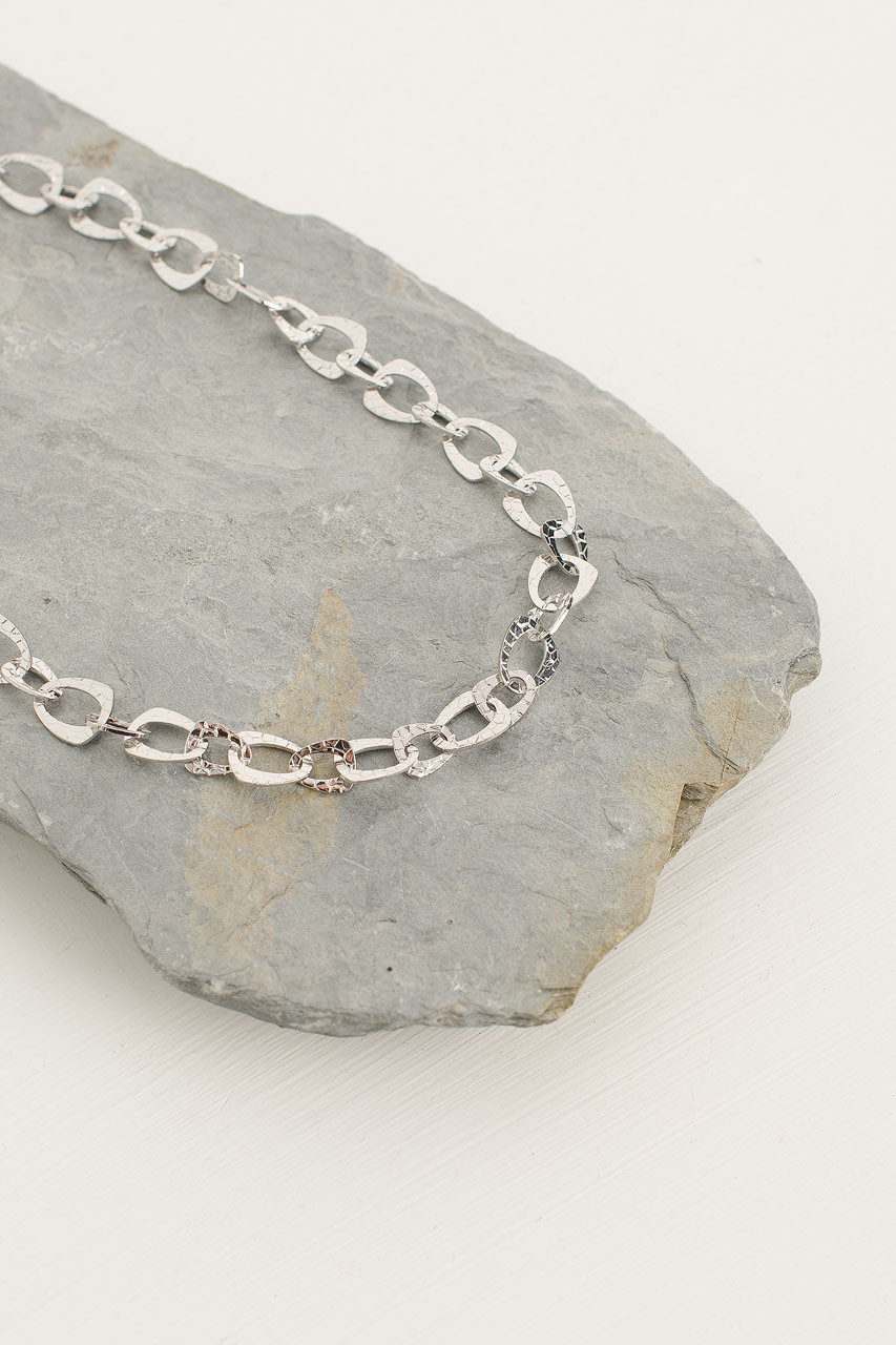 Stacy Chain Necklace, Silver Plated
