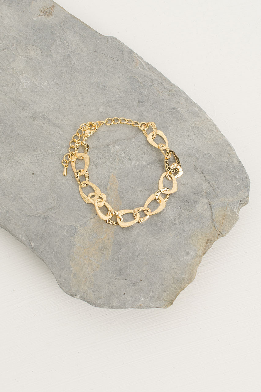 Stacy Chain Bracelet, Gold Plated