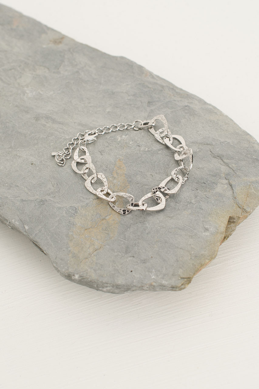 Stacy Chain Bracelet, Silver Plated