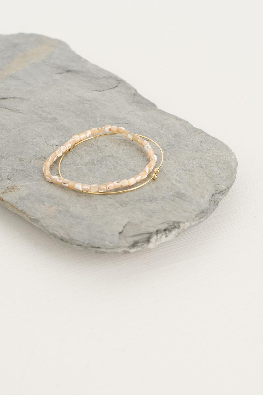 Helen Bracelet Set, Ivory/Gold Plated