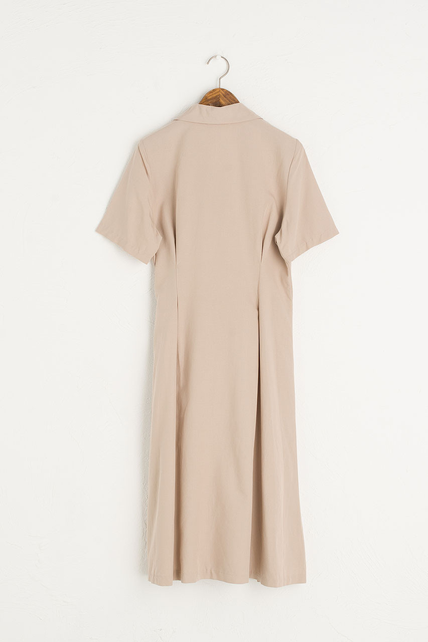 Shirt Style Wrap Dress, Mocha