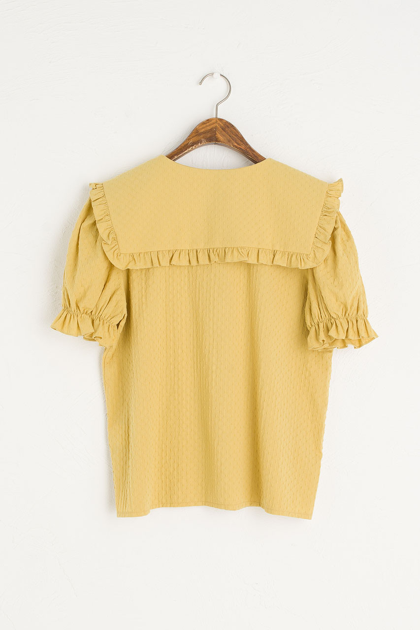 Takako Big Collar Blouse, Mustard