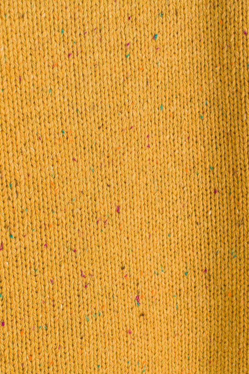 Flecked Fisherman Knit, Mustard