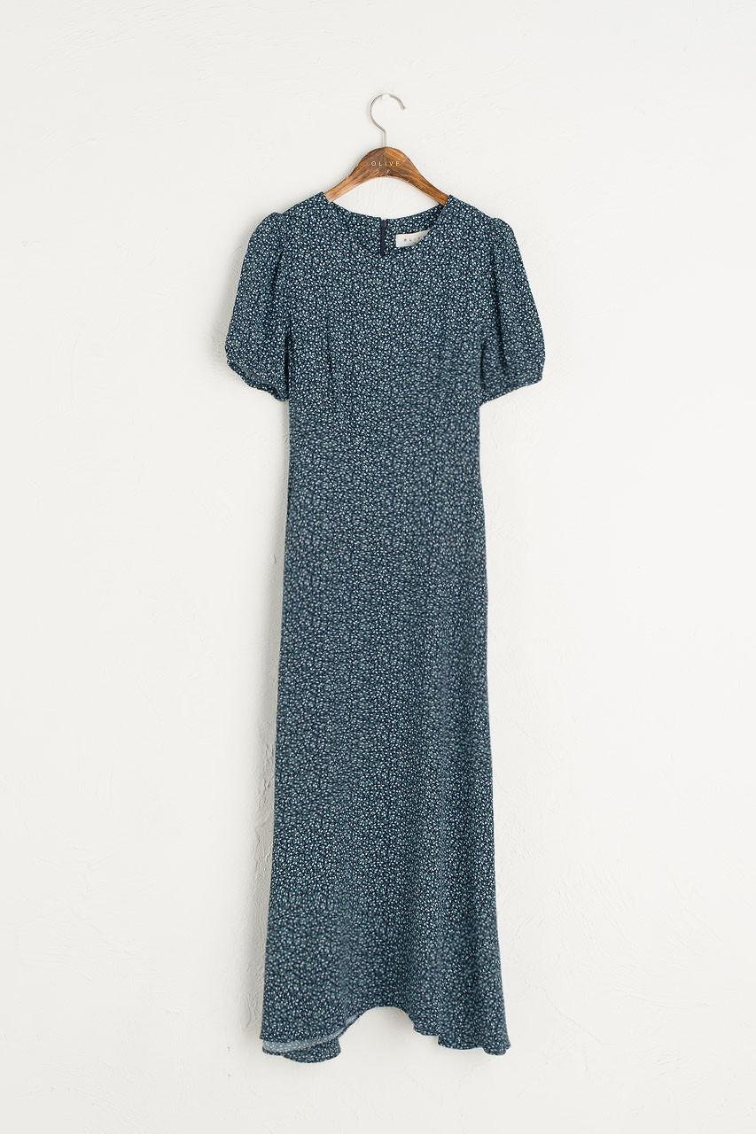 Gracia Floral Dress, Navy