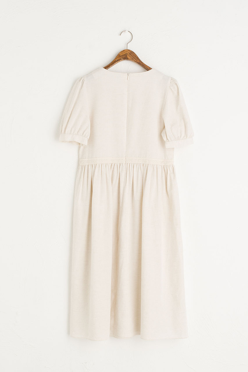 Emilie Cotton Dress, Beige