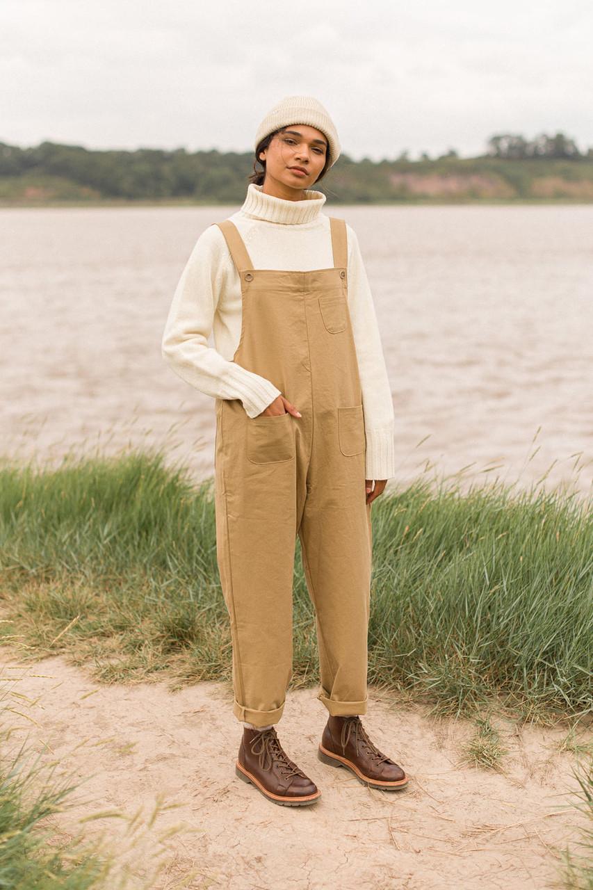 Kyoko Cotton Dungaree, Wood