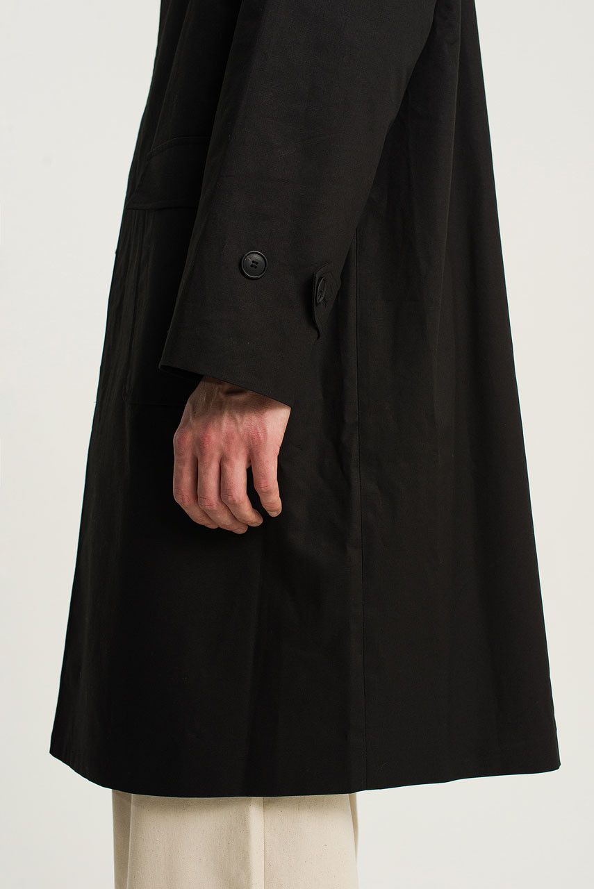 Menswear | Balmacaan Trench Coat, Black