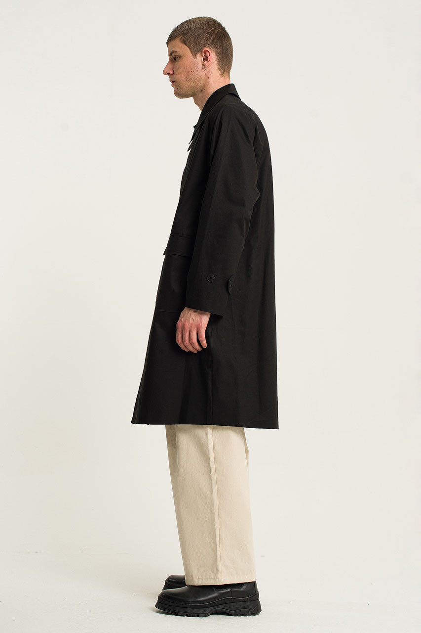Menswear | Oversized Trench Coat, Black