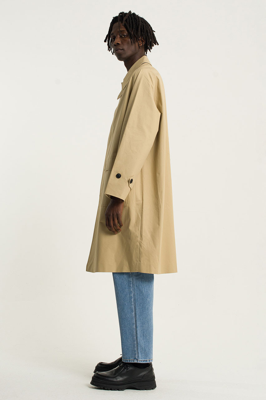 Menswear | Balmacaan Trench Coat, Fawn