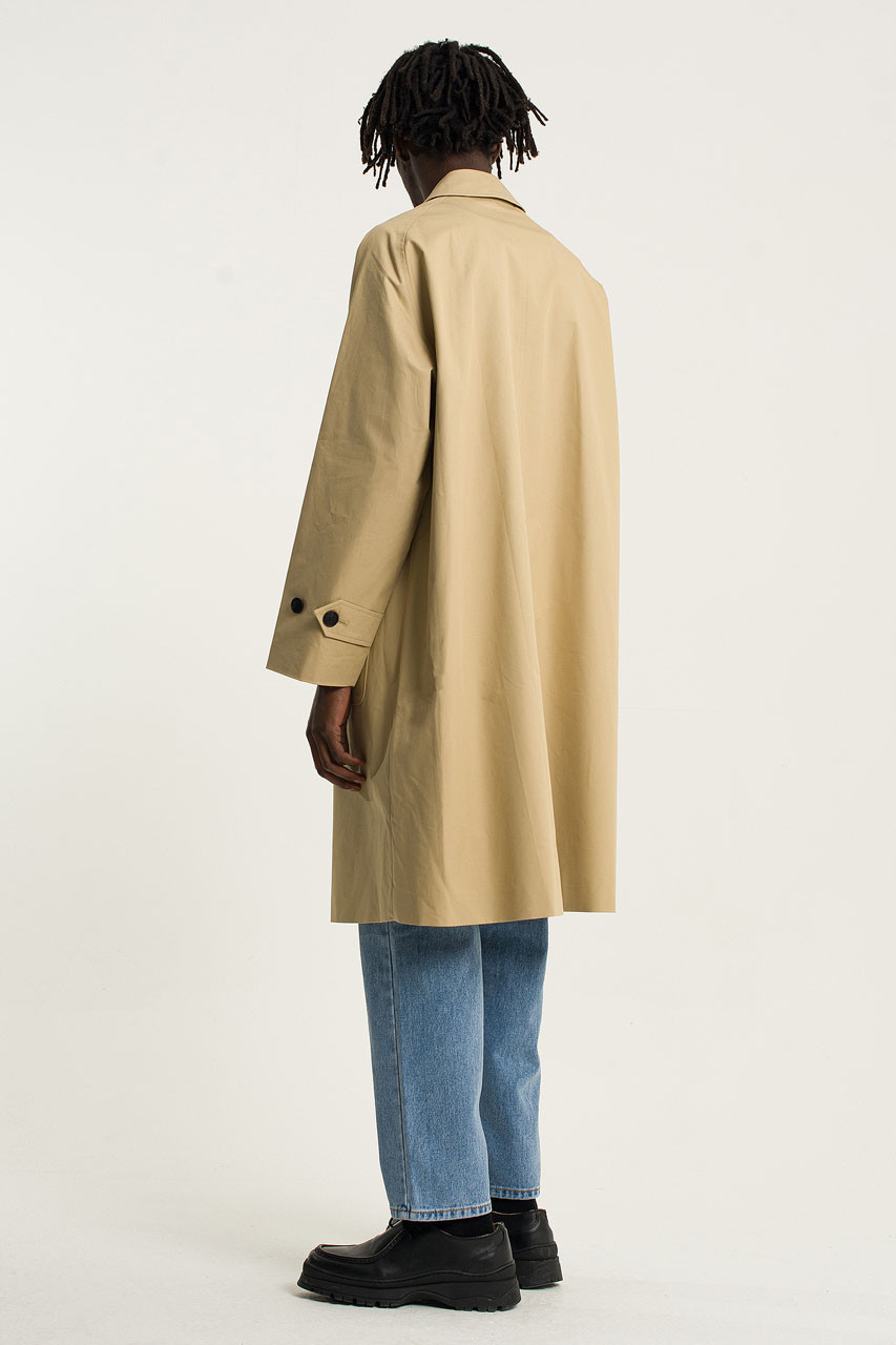 Menswear | Balmacaan Trench Coat, Fawn