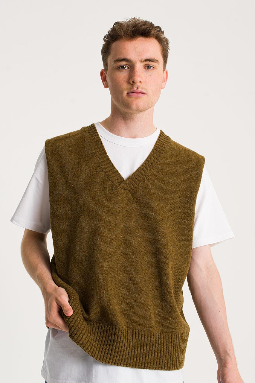 Menswear   Knit Vest, Oak Melange