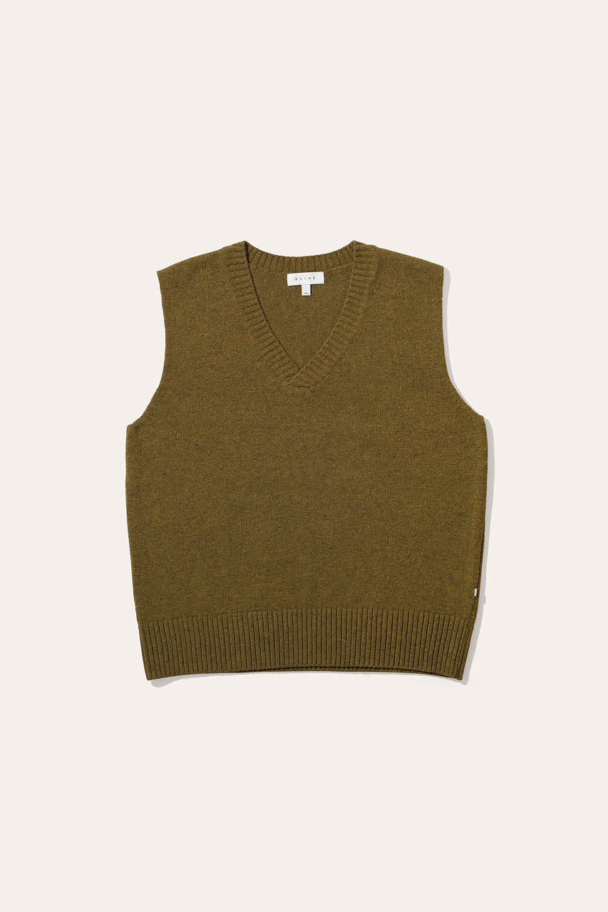 Menswear | Knit Vest, Oak Melange