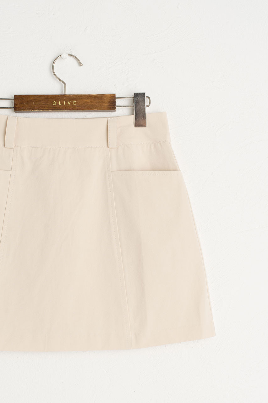 Cargo Mini Skirt, Stone